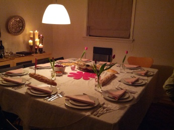 Tal created a beautiful intimate table setting